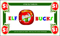 Elf Shelf Elf Bucks