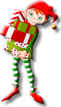 Elf Shelf Elf with Gifts